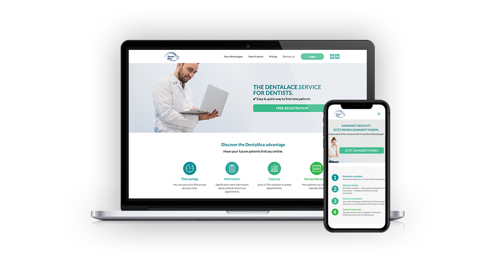 DentalAce Web Development: Your Modern Practice Website